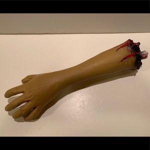 NWOT VINTAGE HALLOWEEN SEVERED ARM DECORATION.